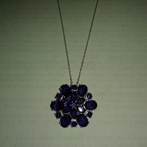 Jewelry - 10 Carat Deep Purple Amethyst Necklace in .925 SS